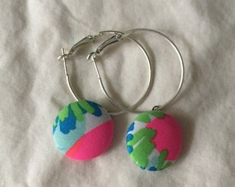 Lilly Pulitzer inspired earrings