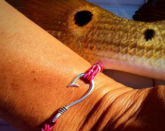 Fish hook bracelet etsy for Fish n hook