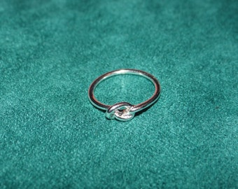 Silver Plated Love Knot Ring