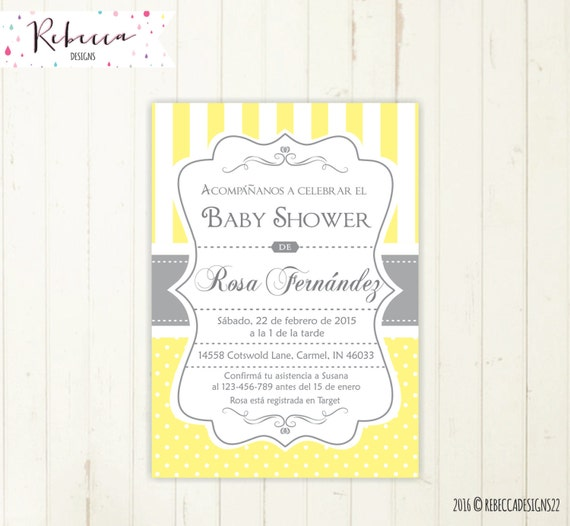 baby shower invitation spanish boy or girl by rebeccadesigns baby