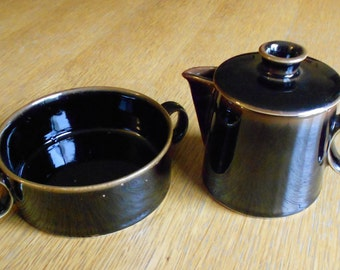 Vintage Dansk Dusk Cream and Sugar Set by Niels Refsgaard