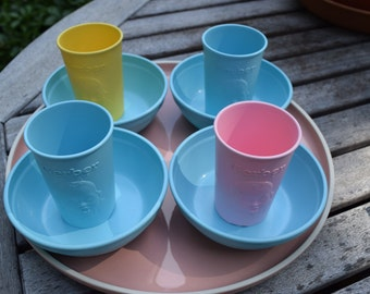 4 Gerber Baby Bowls and Cups 1950's