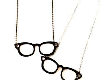 "Necklace ""Nerd Glasses"""