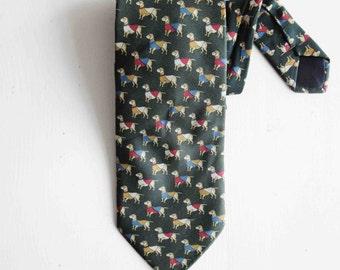 Mens Neckties, Vintage Neckties 1970', Designed Necktie, Silk Necktie, Mens Tie,  Dachshund Necktie, Ties Made in Italy