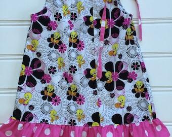 Girl Summer Dress, Toddler Dress, Girl Sundress, Toddler Girl Dress, Little Girl Dress, Pillowcase Dress, Pink Dress, 3T Ready to Ship