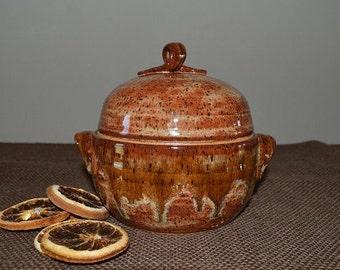 mini casserole, casserole dish, baking dish, serving dish, pottery casserole, handmade pottery