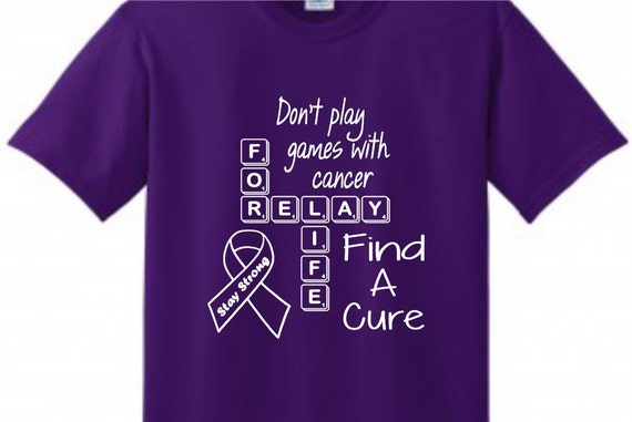 Relay for life scrabble shirt supporting all cancer t shirt for Relay for life t shirt designs