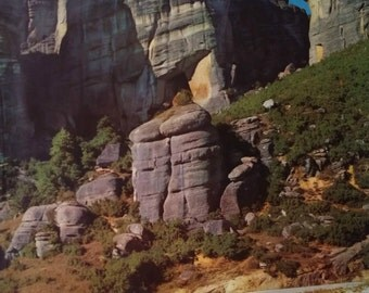 1960 Greece Travel Poster - Meteora Thessaly - Original Vintage Poster