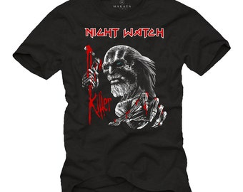 Rock Band T-Shirt Maiden Game Thrones Mash Up - Funny Print Shirt for Men - Cool Gift for Guitar Nerds