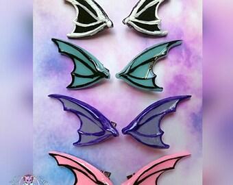 dragon bat Wings  Hair Clips Fairy Kei, pastel goth, kawaii, halloween, creepy cute,punk, goth,