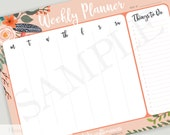 Weekly Planner Notepad  .   To Do List Notepad  .  Weekly Planner  .  Meal Planner  .  Notepad