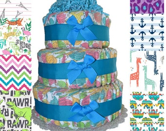 Honest Company Diaper Cake 3 Tier Printed Premium Eco