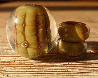 Lampwork beads from borosilicate glass - Sashas oil