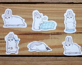 Rabbit Waterproof stickers