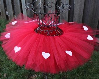 Simple Love Tutu, Red Valentine's Day Tutu, Valentine's Day Tutu, Valetine's Tutu, Heart Tutu