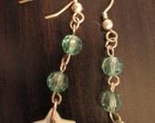 Handmade Beaded Glass Dangle Earrings