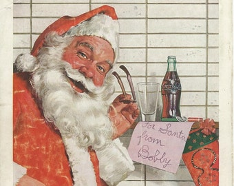 Coca cola santa 1957 & 63 magazine advertisments downloads