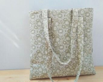 Tote bag,canvas bag,tote bag summer,canvas tote bag,fabric purse bag,pattern bag,geometric print,circles tote,shopping bag,college bag