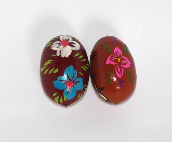 Hand Painted Wooden Eggs From Poland