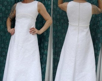 1960s  french Wedding DRESS BRIDAL gowns no  Sleeves size us6