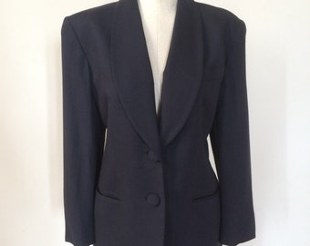 Vintage Christian Dior Navy Blue Jacket