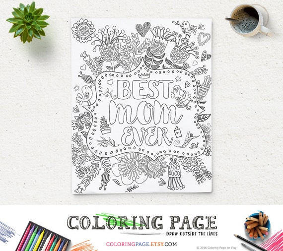 Coloring Page Printable Quote Mother 39 s