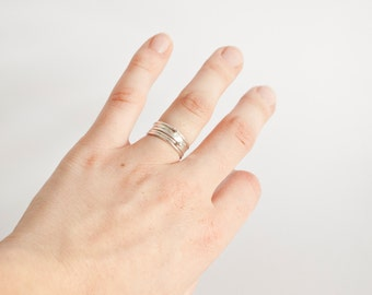 Stacking rings set composed of 5 different rings! Thin, delicate, organic, playful rings, to wear separately or together!