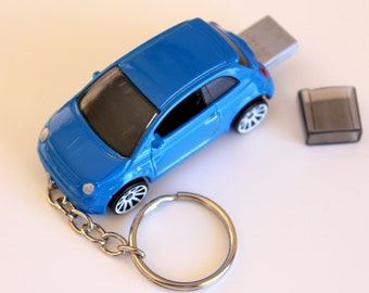16GB USB 3 Flash Drive - Fiat 500 Keyring