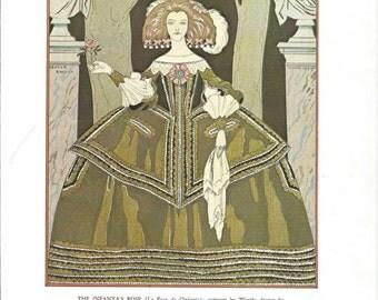 The Infanta's Rose, Bon Ton Parisienne Fashion From 1912-1925, Fine Art Print, Book Plate, Illustration, Wall Decor, Fashion Lovers BT5