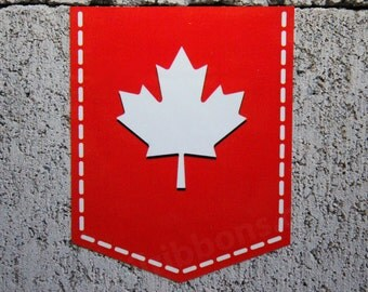 """Maple Leaf of Canada 2"""" x 2.5"""" Sticker Vinyl Decal Car Canadian Emblem Badge"""