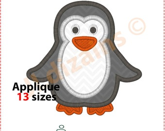 Penguin Applique Design. Penguin embroidery design. Embroidery design penguin. Applique design penguin. Panguin. Machine embroidery design.