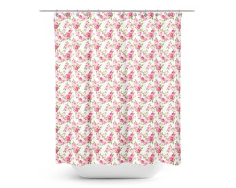 Shabby Chic Roses Shower Curtain - Floral Kids Shower Curtain - Shabby Chic Shower Curtain - Adult Shower Curtain