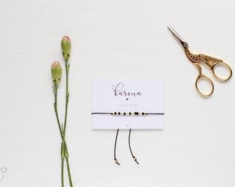 KARMA Morse Code Bracelet, Morse Code Jewelry, Friendship Bracelet, Morse Code Bracelet, Wish Bracelet, Wish Jewelry, Make a wish bracelet