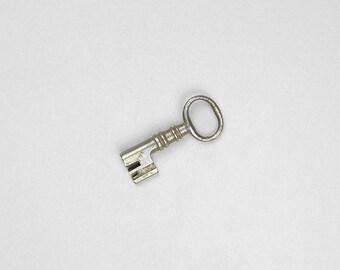 Antique Skeleton Key, Vintage Skeleton Key, Old Skeleton Key, Old Skeleton Key, Barrel Key, Steel Skeleton Key Bit,  Jewelry Keys B36