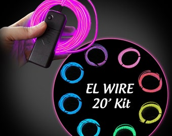 Burning ManTRON EL Wire Electroluminescent cosplay