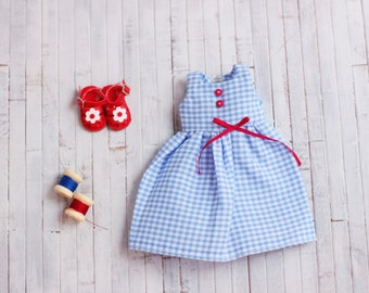 cotton dress for blythe and similar doll (cotton to blythe or similar doll dress)