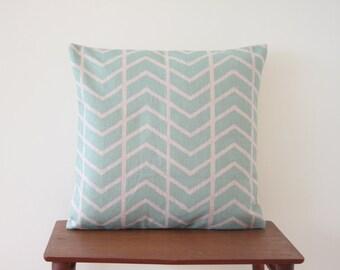 "18""x18"" Decorative Pillow Cover Geometric Pattern Herringbone Mint Cushion Cover Throw Cushion Cover 260"