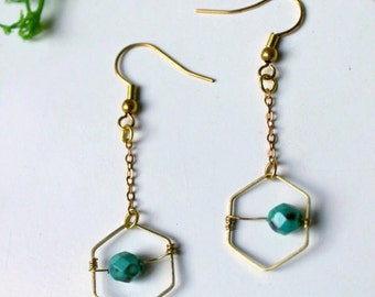 SALES - Pyxies - Tiny turquoise earrings
