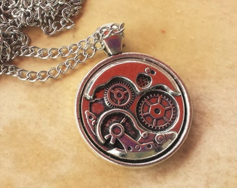 Steampunk Gears Pendant Necklace