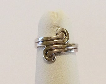 Size 2 Adjustable Sterling Silver Toe Ring