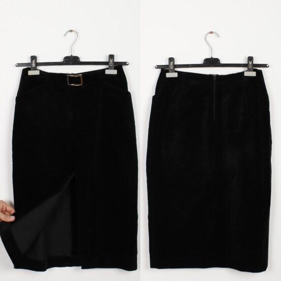 black velvet skirt maxi pencil skirt bodycon fitting