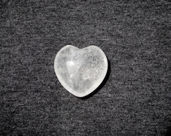 Clear Quartz Puffy Heart Healing Stone