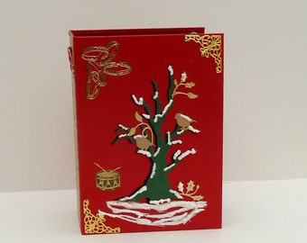 Handmade Memory Book, Christmas Album, Unique Scrapbook, Xmas Photo Journal, Keepsake Photo Album, Family Heirloom Book, Holiday Photo Diary