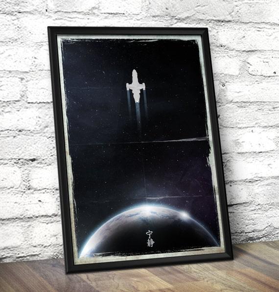 Firefly Serenity Inspired Minimal Art Print - Serenity Minimal Wall Art -