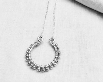 Sterling Silver Wire Wrapped Necklace