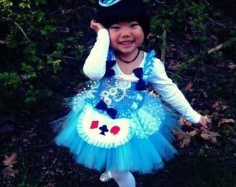 Alice costume/wonderland themed party/blue tutu dress
