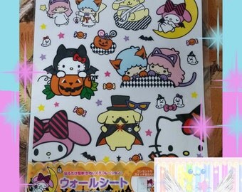 Halloween Themed Wall Decals Sanrio Officially Licensed