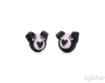 Polymer Clay Dog Earrings: Border Collie - Thoughtful Birthday or Christmas Gift for Every Dog Lover and Border Collie Owner