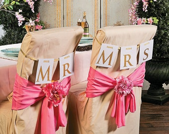 chair decorations. mr. \u0026 mrs. chair décor wedding signs / decorations awesome decor a
