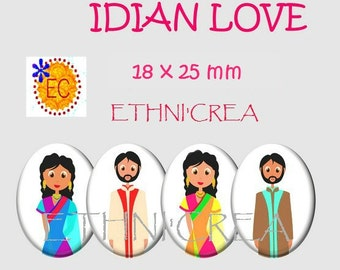 Indian love Board 80 18x25mm oval digital images download